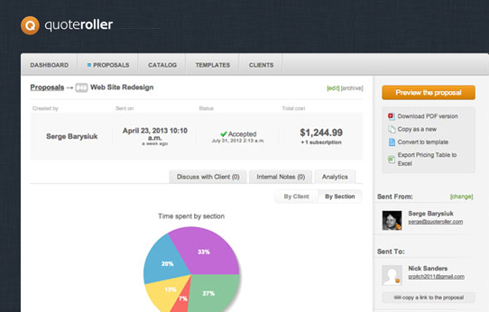 Quote Roller - Built-in Analytics