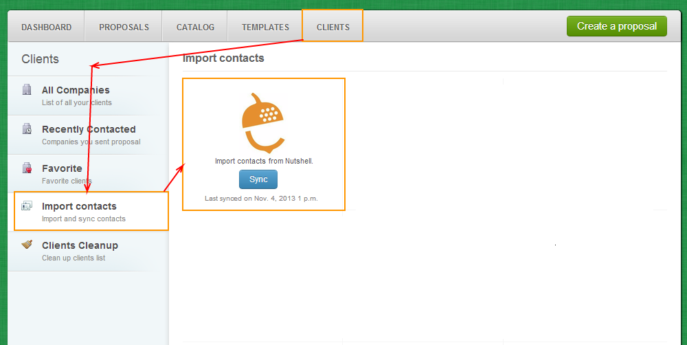 Clients - Import Contacts - Nutshell