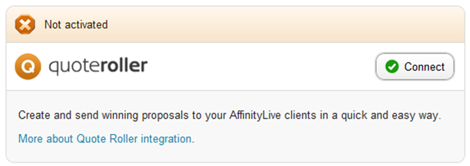 Affinity Live  - Enable Quote Roller