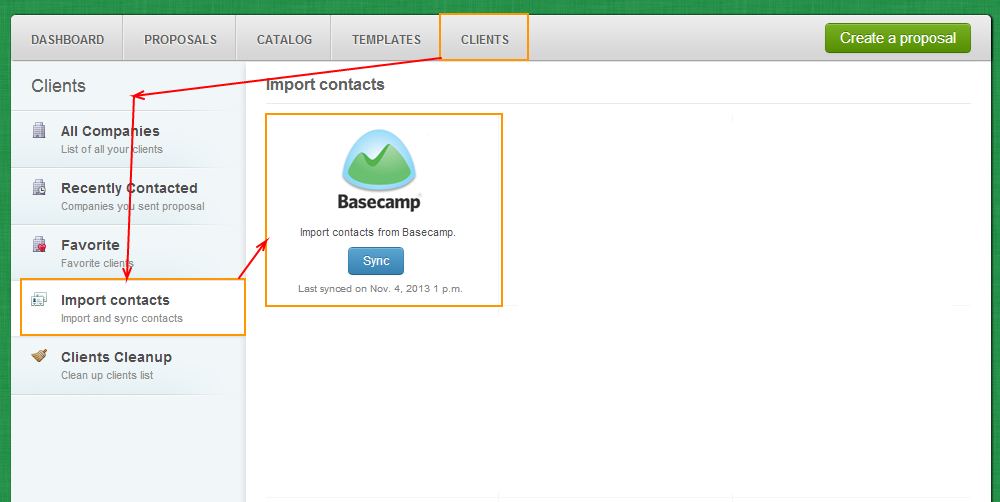 Clients - Import Contacts - BaseCamp
