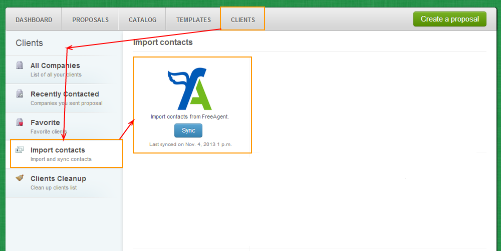 Clients - Import Contacts - FreeAgent
