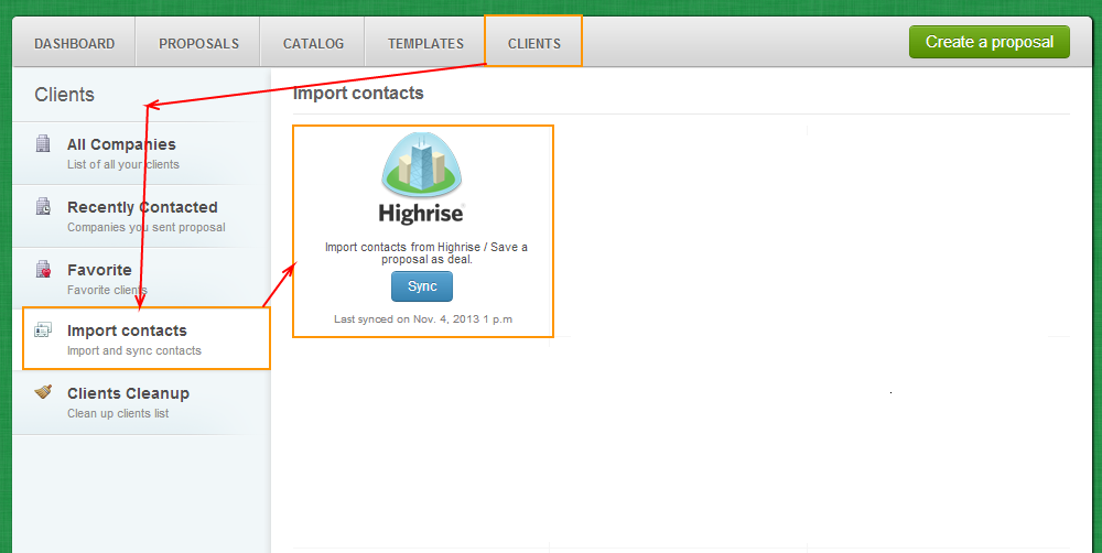 Clients - Import Contacts - HighRise