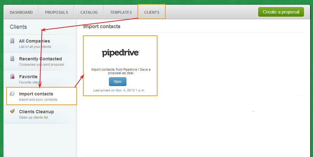 Clients - Import Contacts - PipeDrive