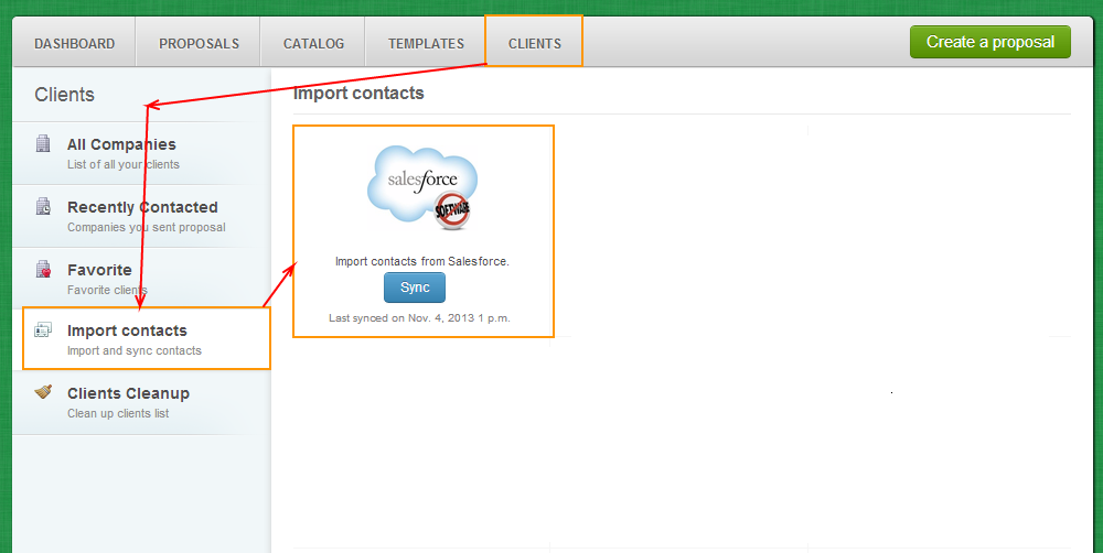 Clients - Import Contacts - SalesForce
