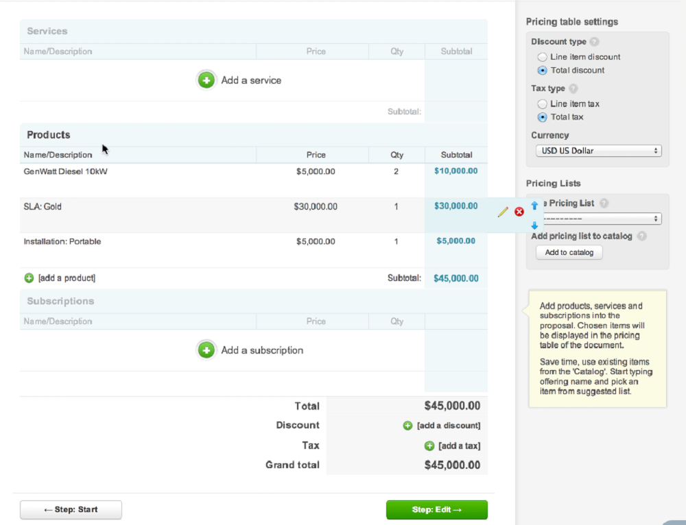 Pricing-table-salesforce-addon